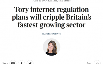 Tory internet regulation plans will cripple Britain's fastest growing sector